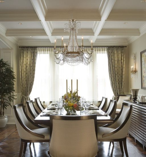 23 Dining Room Ceiling Designs Decorating Ideas: Coffered Ceilings And Dining Room Chairs