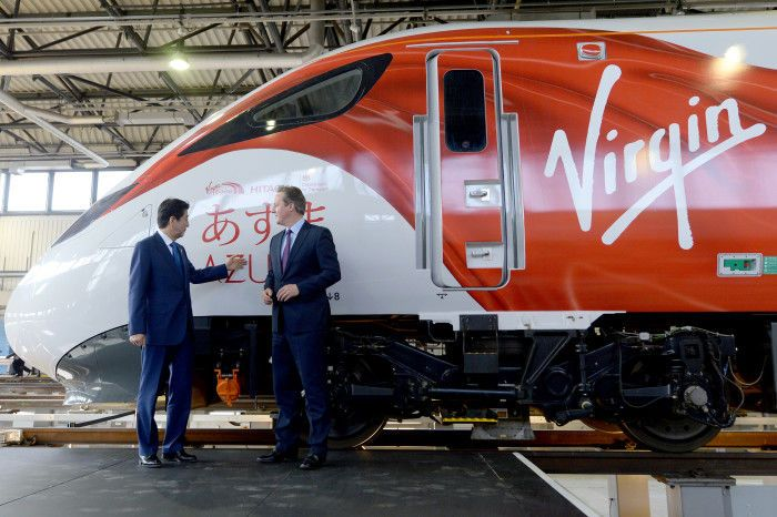 David Cameron visits the Virgin Azuma | Virgin | Train ...