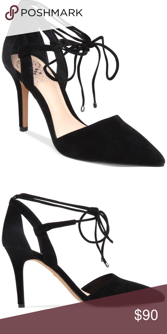 6618a77b322 Vince Camino Bellamy Tie-Front Pumps Black Suede GORGEOUS! EUC- worn once.  Original box included. Vince Camuto Shoes Heels