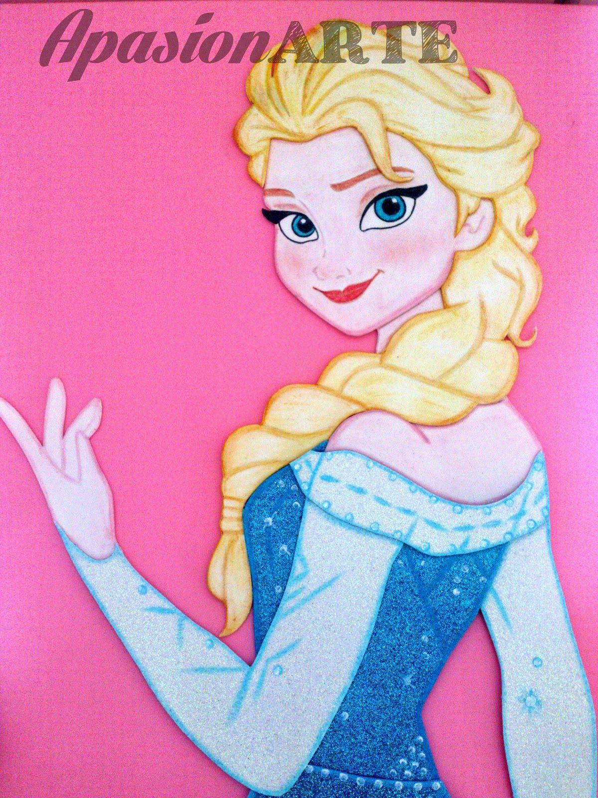 Apasionarte Elsa De Frozen En Goma Eva Paso A Paso