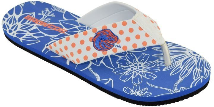 Women's College Edition Boise ... State Broncos Floral Polka-Dot Flip-Flops Inexpensive low price sale online Y4oy67