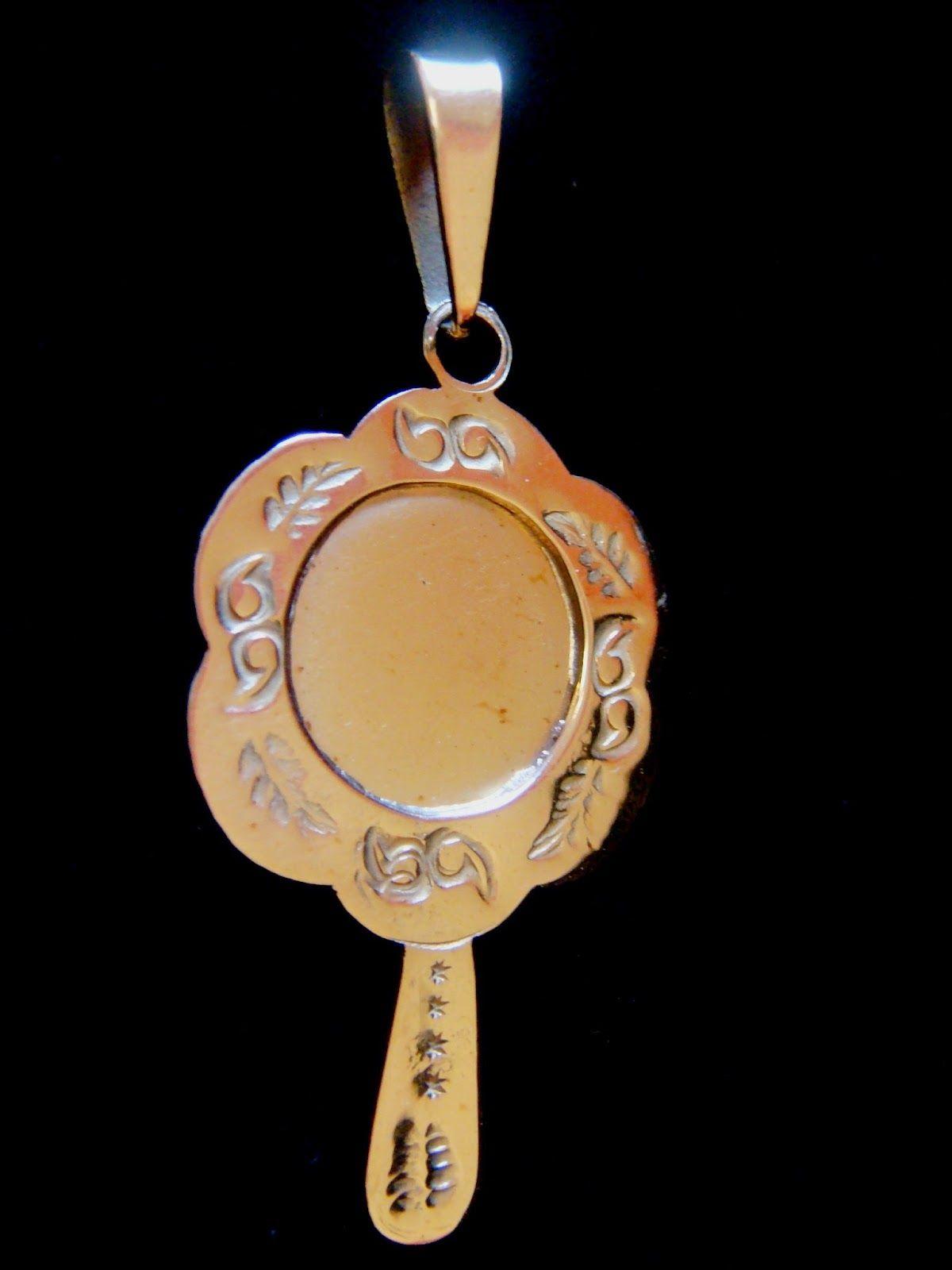 JorgeTorresJoias  Pingente Dente de Javali Xangô, Pingente Ouro Abebê Oxum,  Escapulário Simples Ogum em Prata de Lei 0d757a8208