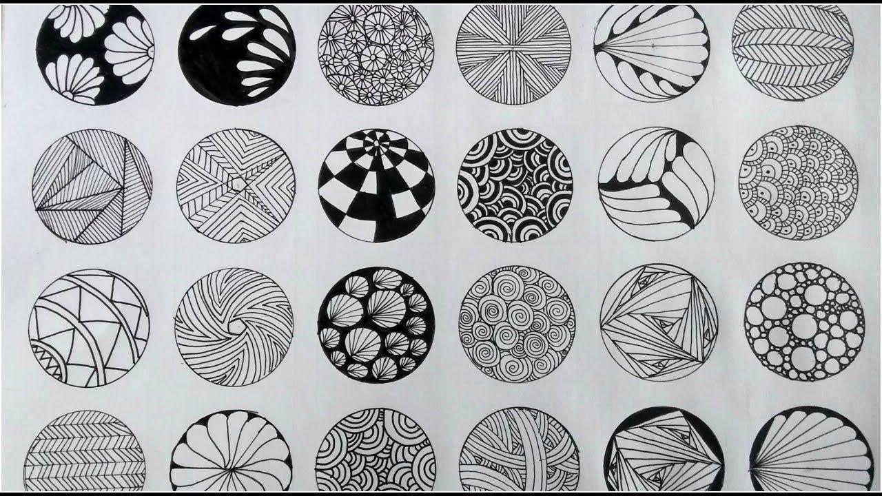 24 Zentangle Patterns Youtube Zentangle Patterns Easy