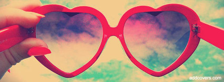Heart Glasses {Girly Facebook Timeline Cover Picture