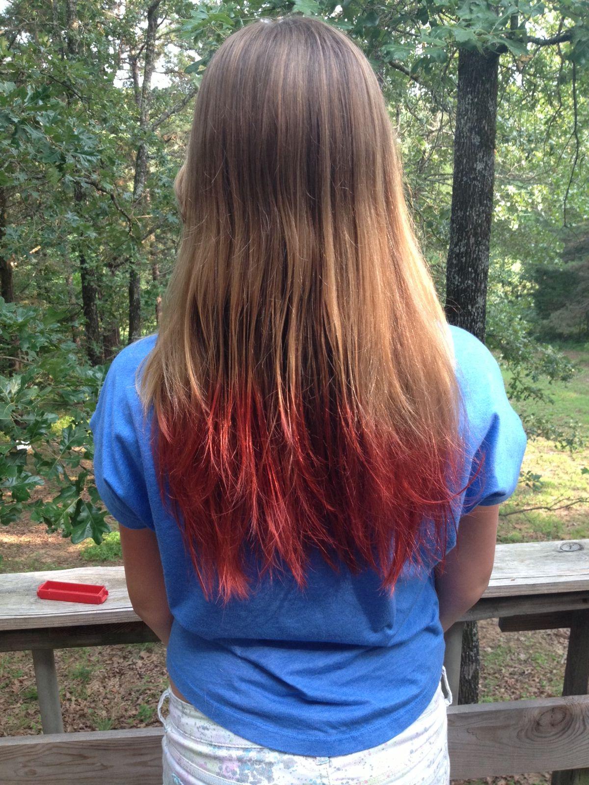 Dip Dyed Hair We Used Hawaiian Punch Packets Dip Dye Hair Hair Dyed Hair
