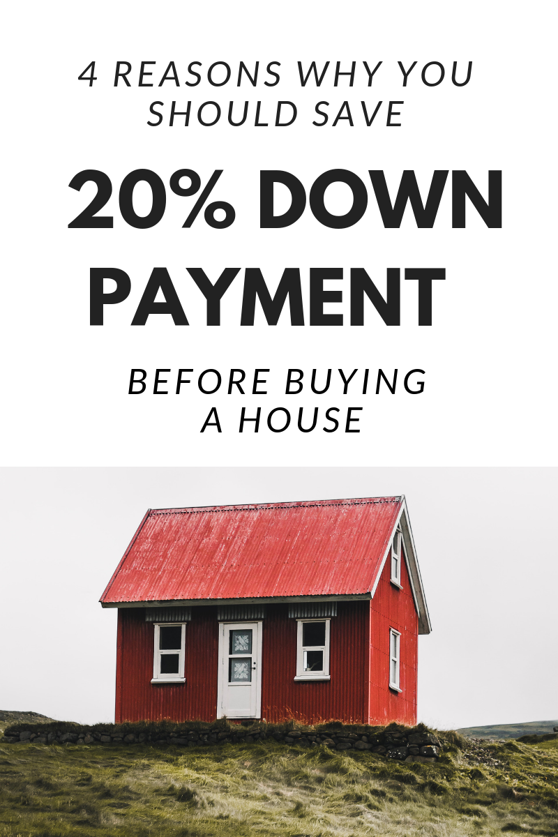 4 Reasons To Save 20 Down Payment Before Buying A House House Down Payment Down Payment Save For House