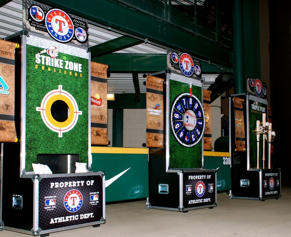 Trade Show Booth Games : Custom made games for their client with a baseball theme
