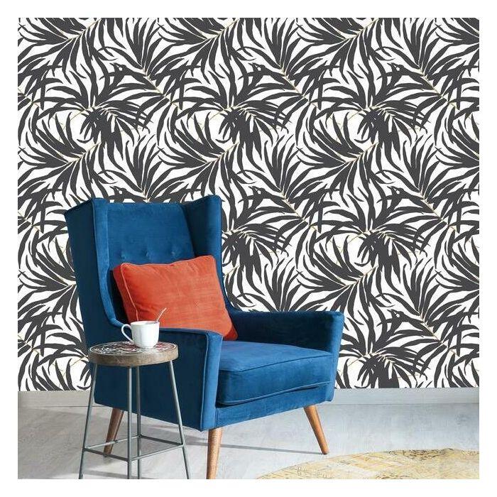 Bali Leaves Premium Peel And Stick Wallpaper Room Visualizer Wall Coverings Peel And Stick Wallpaper