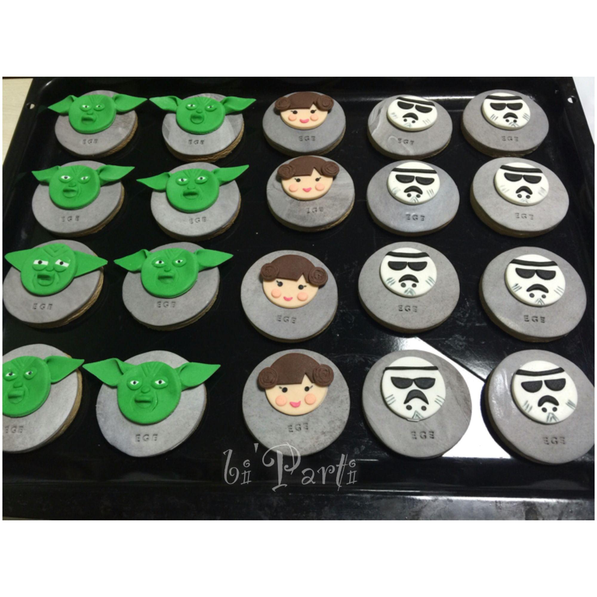 Star wars cookies Star wars party ideas Birthday cookie Doum