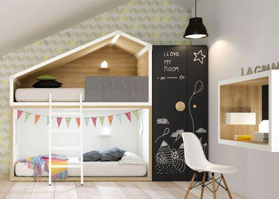 Habitacion Juvenil La Grama Litera Tren Abuardillada0 Dormitorio
