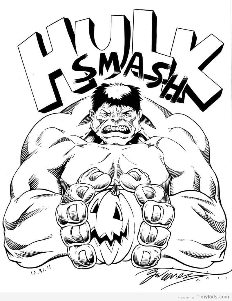 Timykids Hulk Smash Coloring Pages
