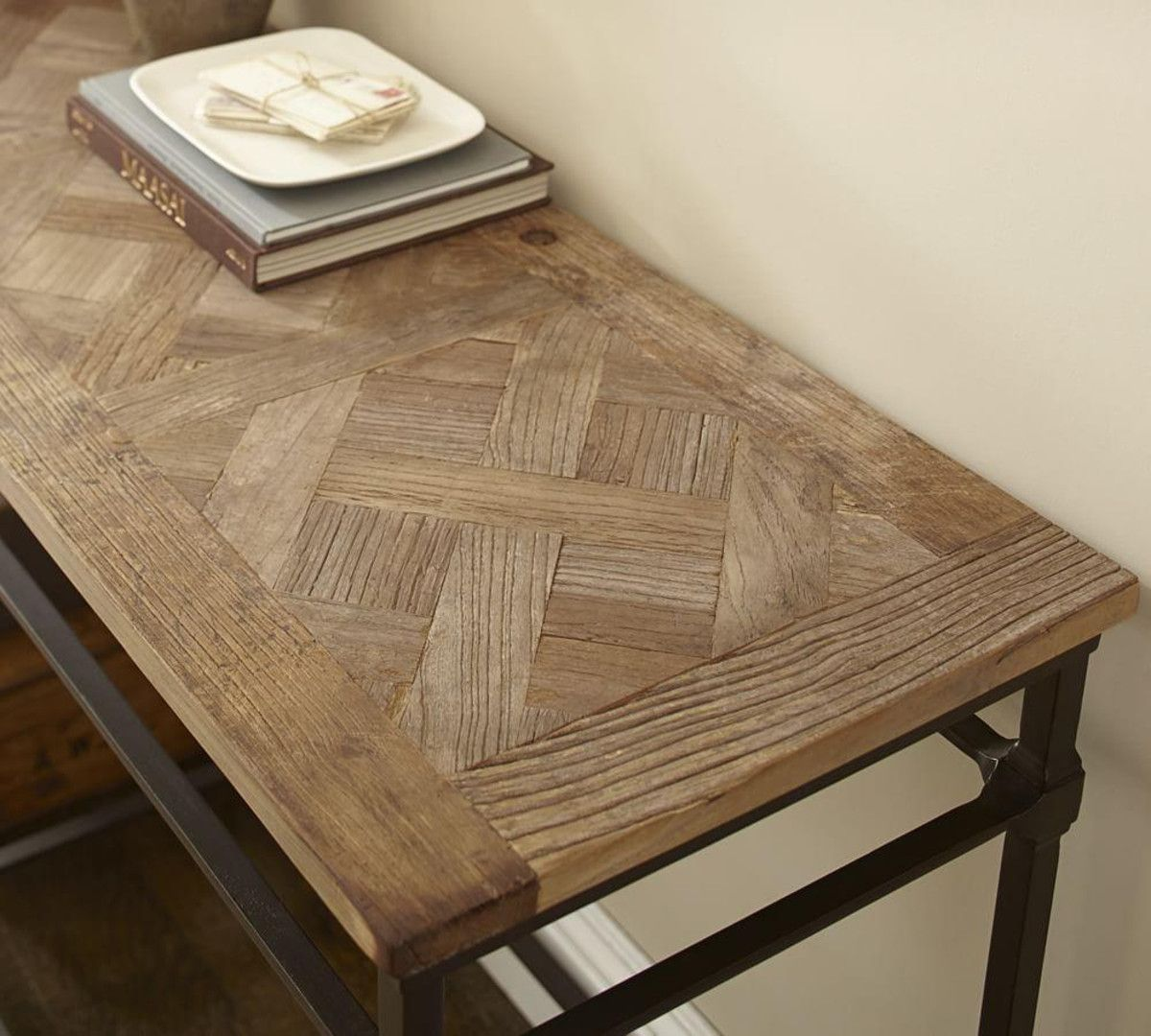 Parquet console table coffee table pinterest parquet console table geotapseo Gallery