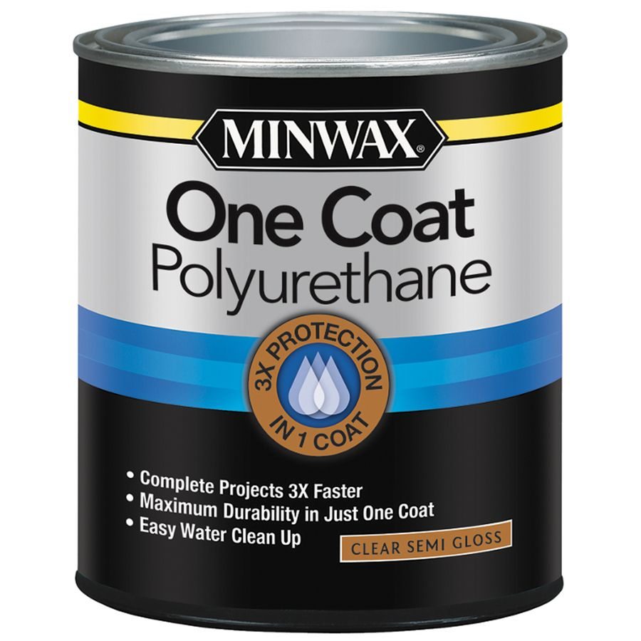 32 Fl Oz Semi Gloss Water Based Polyurethane Minwax Floor Stain Polyurethane