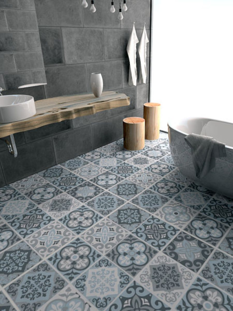 Love These Tile Decals And Colors Floor Tile Decals Flooring