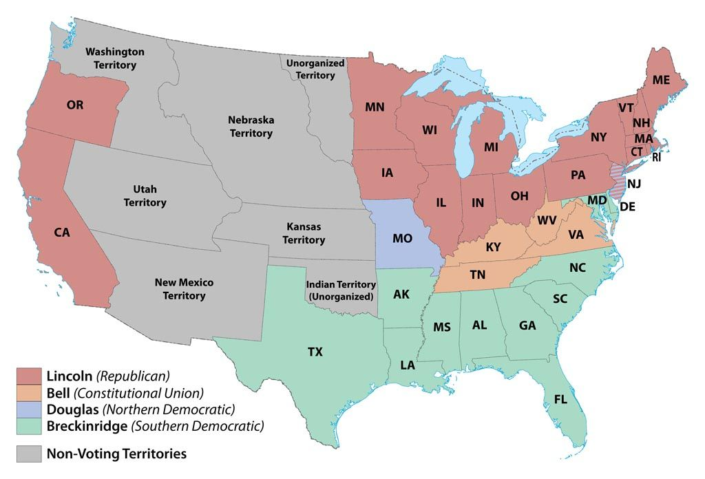Electoral Map US History GovernmentConstitution - Us political party map
