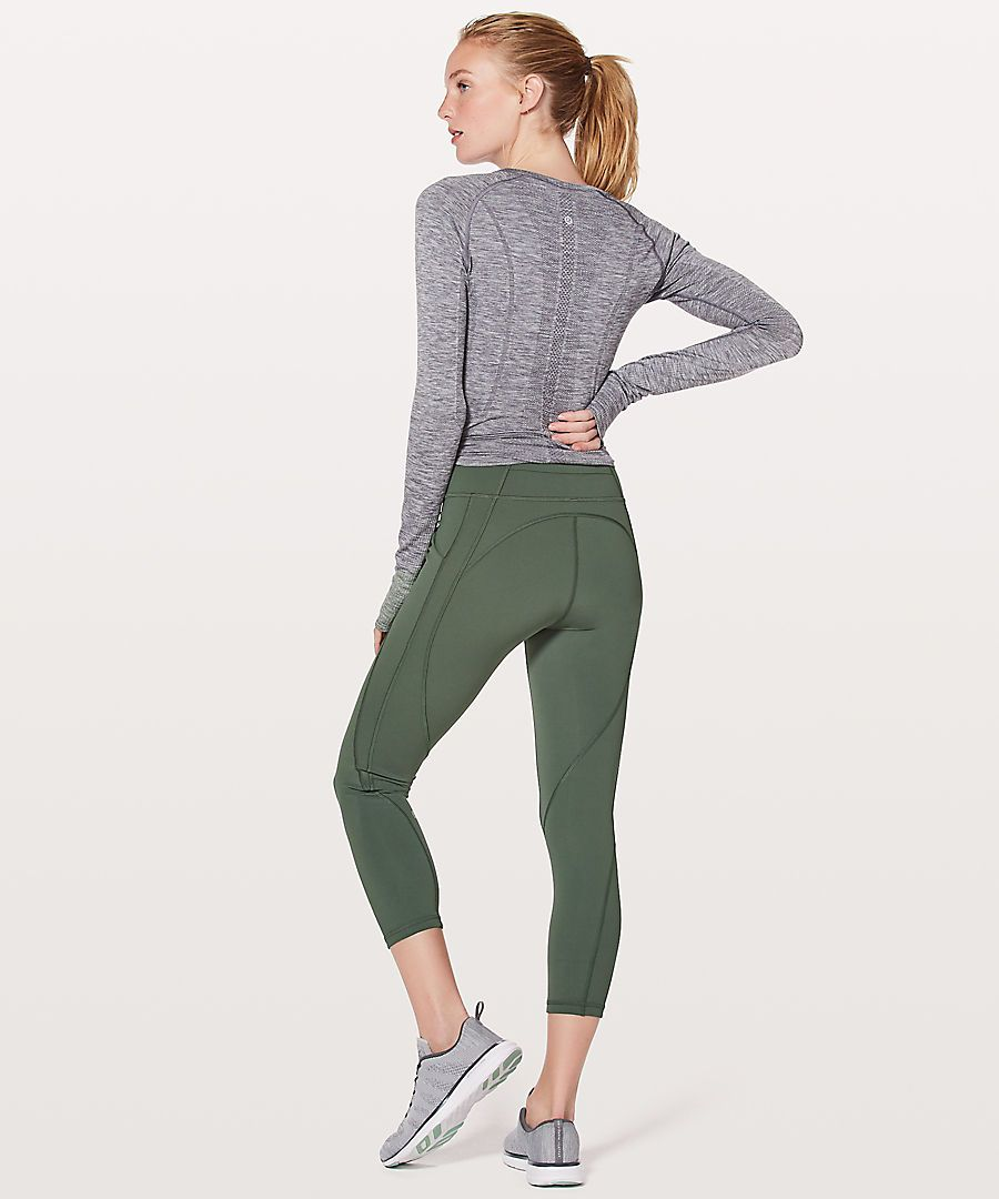 Lululemon Time To Sweat Crop dark forest Cropped pants