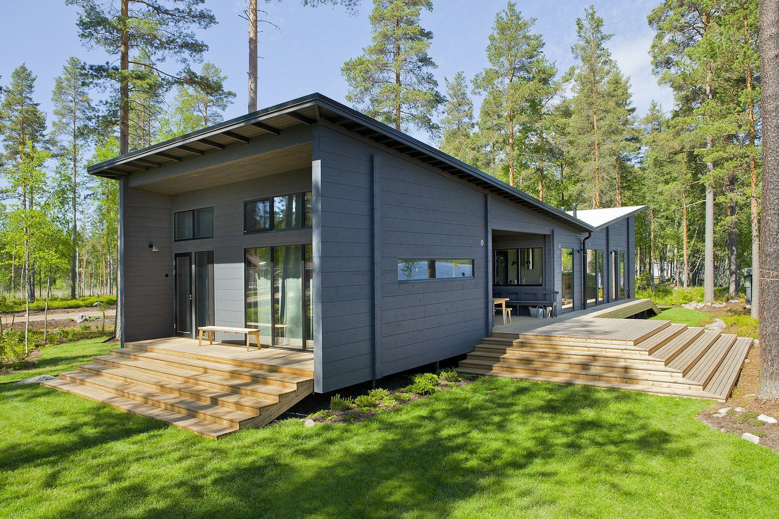 Modern Log Cabin Home Kits By Honka Prefab Log Cabin Kits In Finland Log Homes Cabin Kit Homes Log Cabin Home Kits