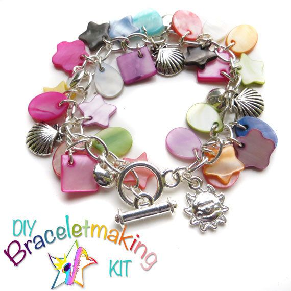 Diy Bracelet Jewellery Making Kit Charm By Thejazzyjewelzstudio Sunny Beachjewelry