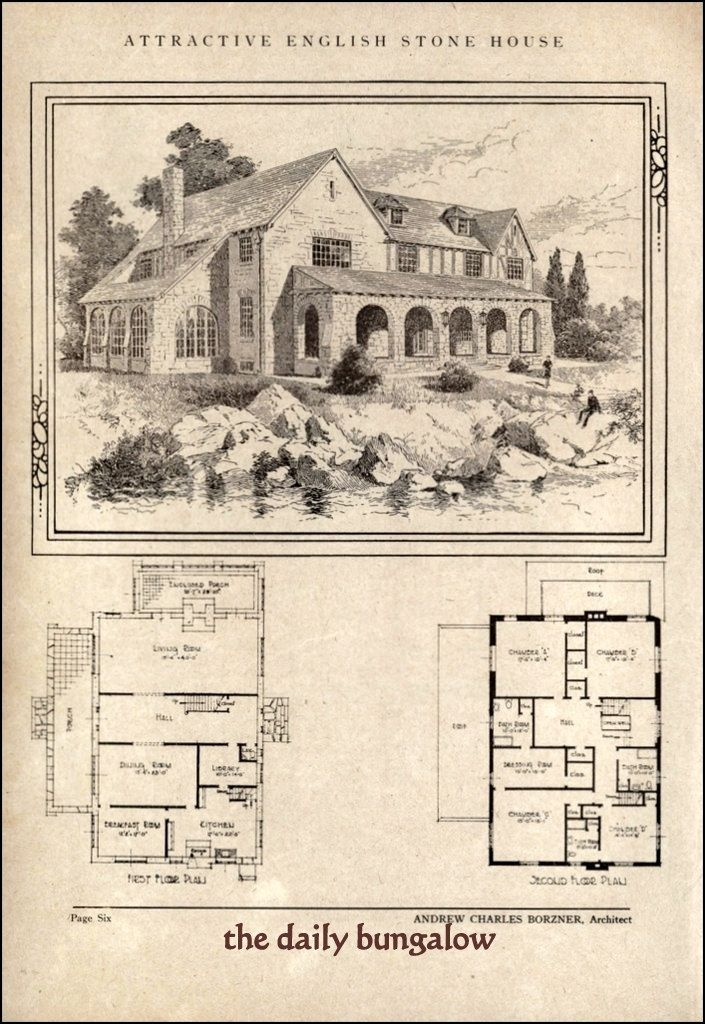 Andrew Charles Borzner 1928 Beautiful Homes Vintage House Plans House Blueprints House Floor Plans