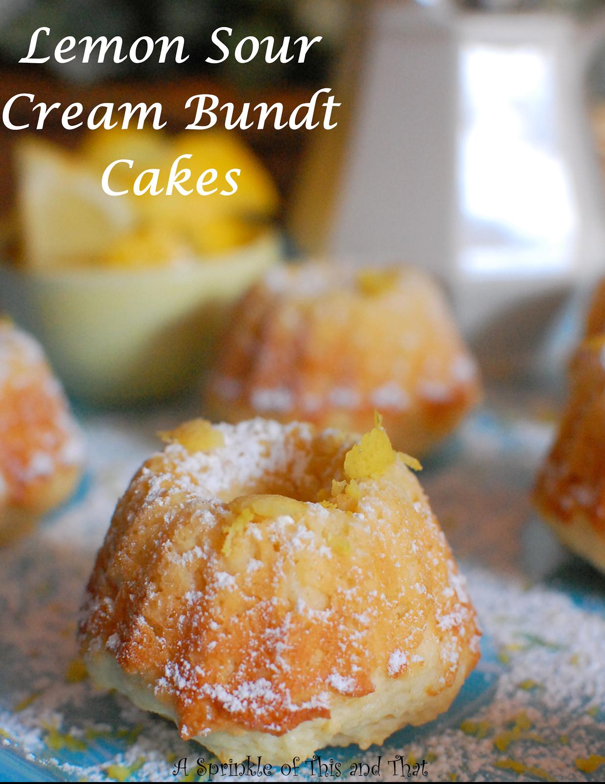 Lemon Sour Cream Bundt Cakes Lemon Recipes Lime Recipes Bundt Cake
