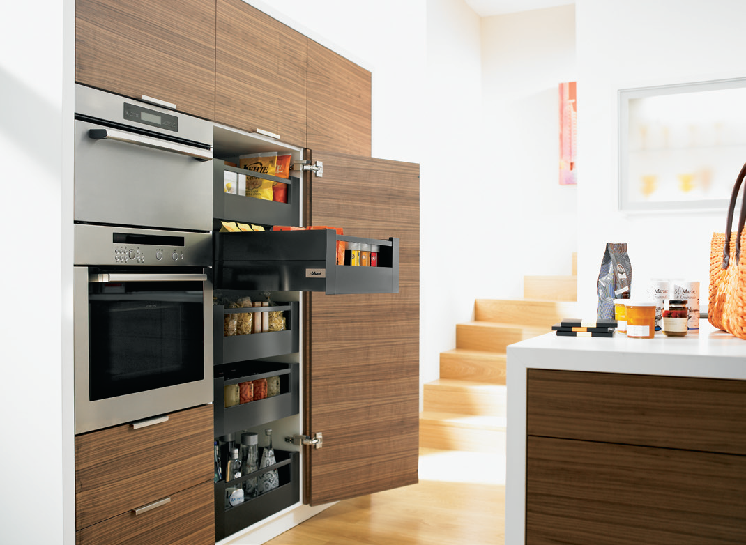 Fulfil your desire for more storage space with space tower blum by hafele innovative storage - Kitchen storage space ...