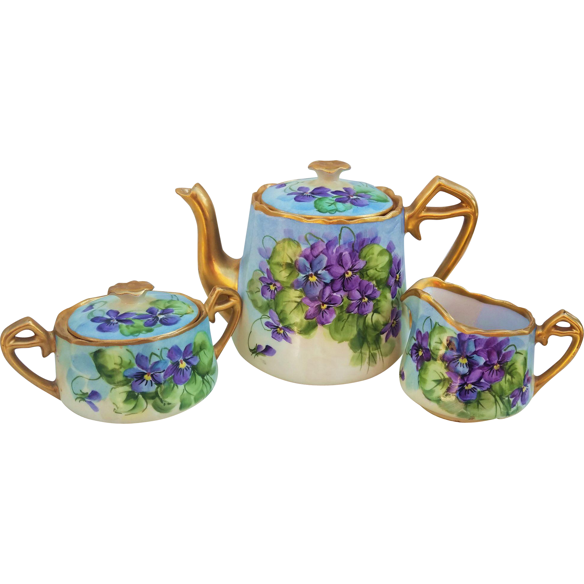 Teekannen Set Spectacular Osborne Studio Of Chicago 1900 S Hand Painted
