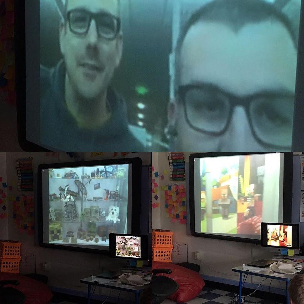 Tuckerton Elementary @TES_NJ Taking a tour of the #minecraftedu offices! #skypeathon http://ift.tt/2gCHTAA