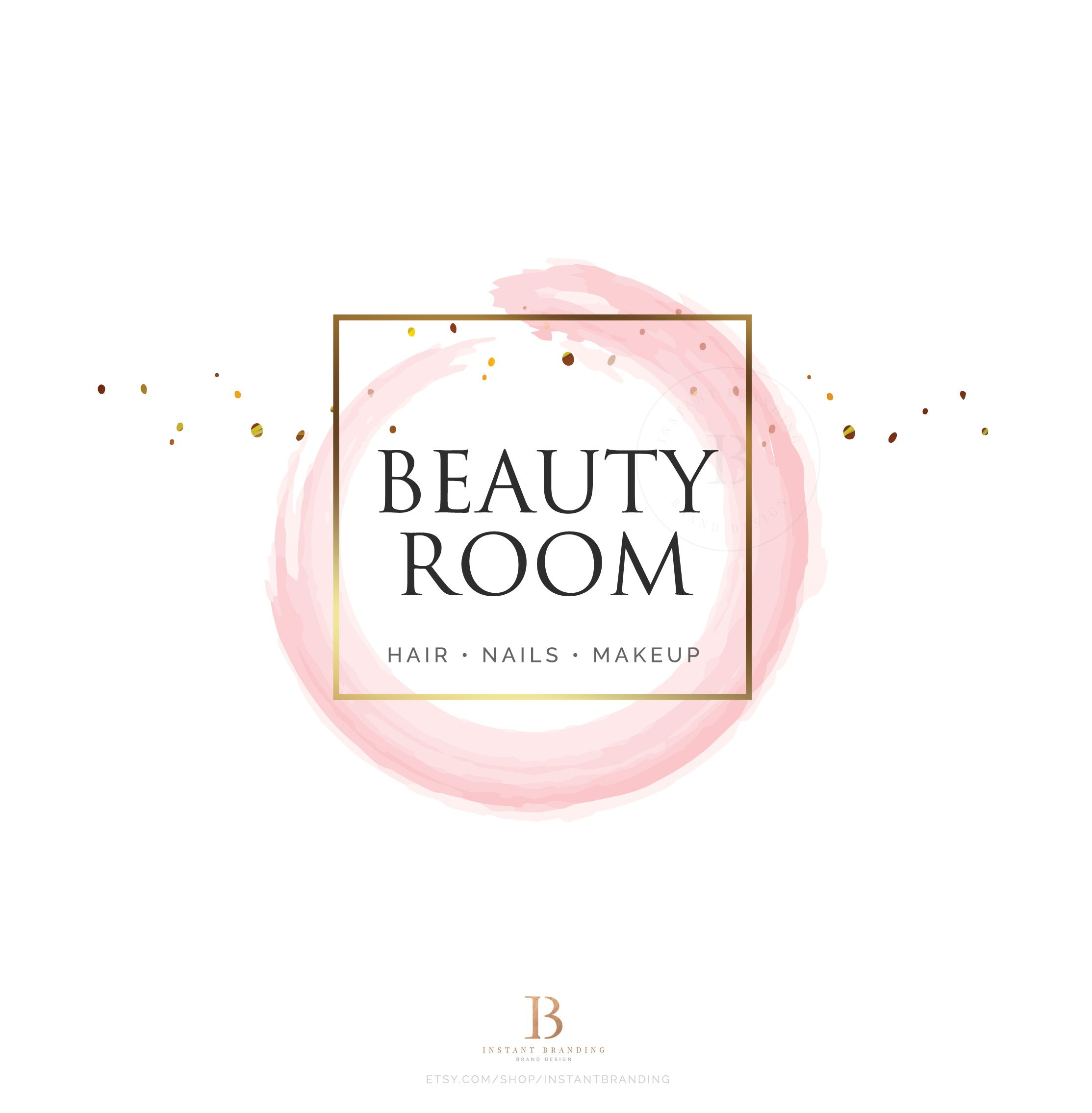 INSTANT DOWNLOAD, Hair Salon, Makeup Artist Logo, Beauty
