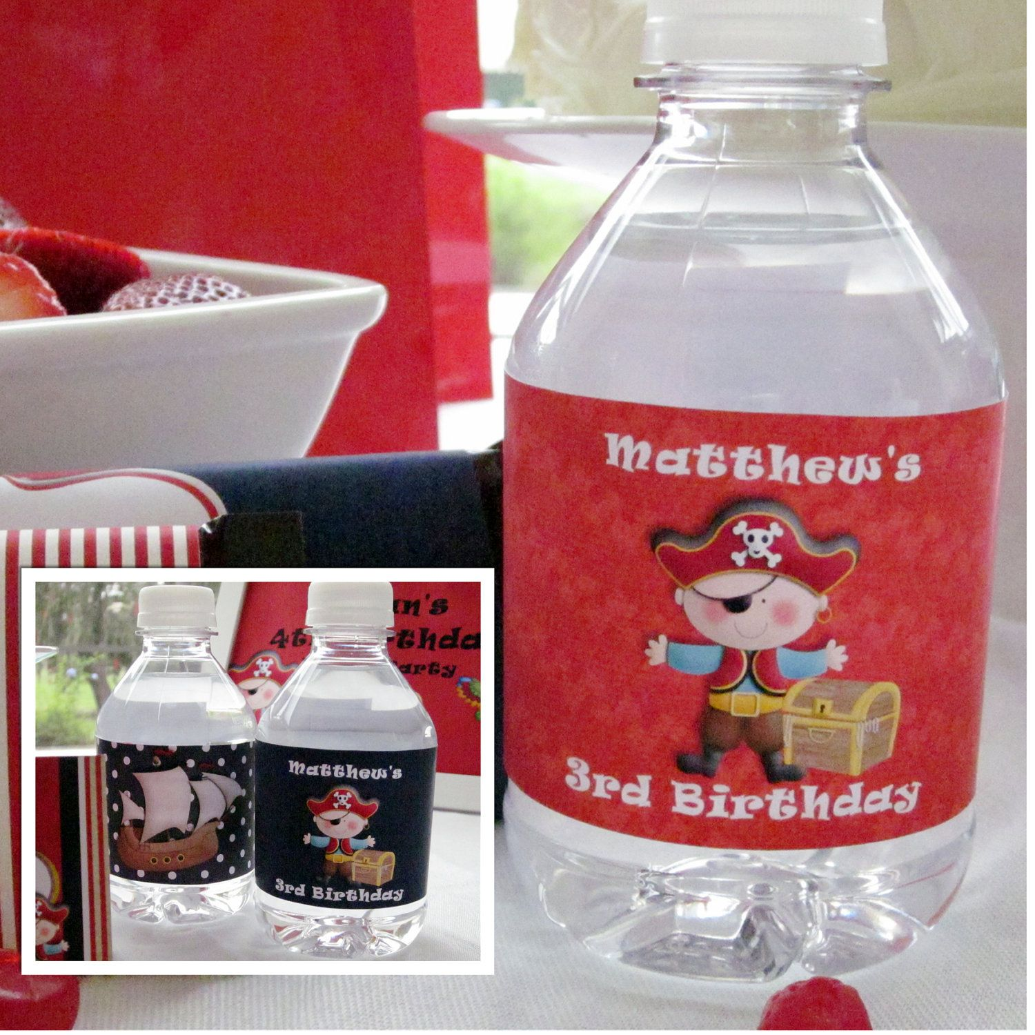 #Cricut - idea number 2 -These cute bottles could be made with the new Pirates and Mermaids cart