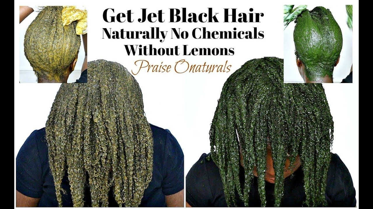 How To Dye Hair Black/Jet Black Naturally With Amla Henna