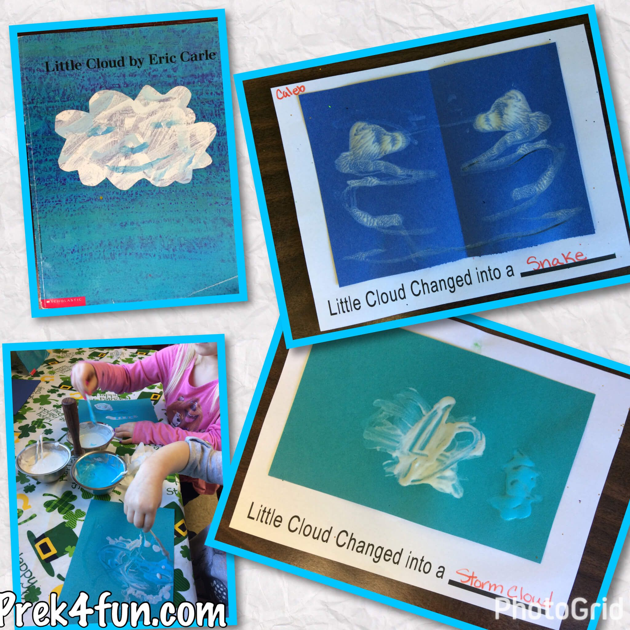 Eric Carle Little Cloud Inspired Art Amp Activities