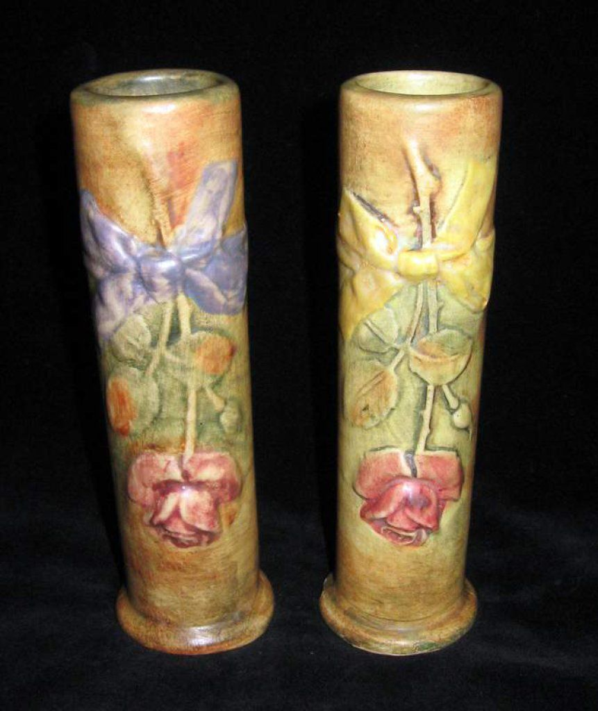 Lot #270 - PAIR OF WELLER BUD VASES | McLaren Auction Services - Proxibid Auctions