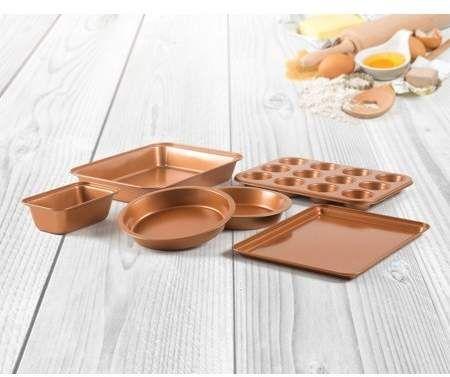 Innova 6 Piece Non Stick Copper Bakeware Set In 2019 Products