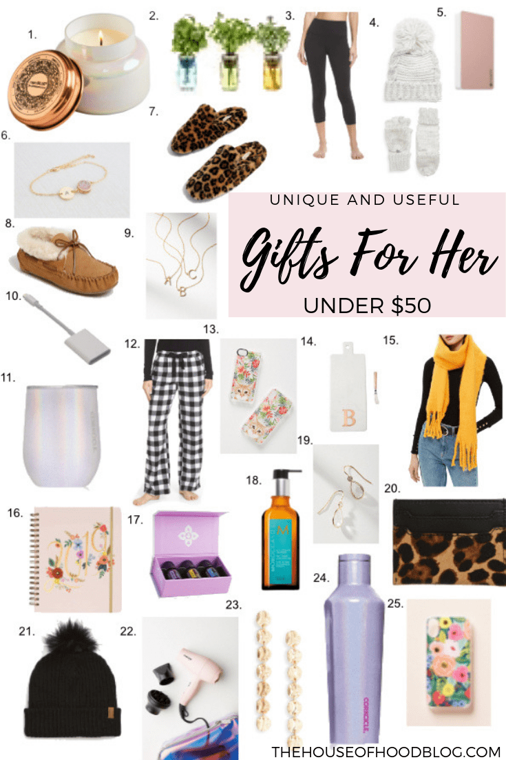 25 Unique And Useful Christmas Gifts For Her All Under 50 I Ve Gathered Up Some Of My Tried And True Favorites Gifts For Her Christmas Gifts For Her Gifts