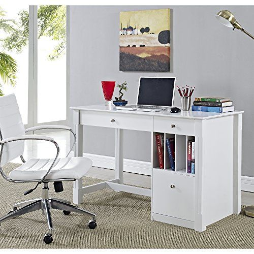 Inch Wide White Wood Deluxe Desk Home Accent Furnishings Http
