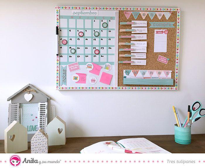 Haz tu propio panel organizador con scrapbooking todo a - Organizadores hogar ...