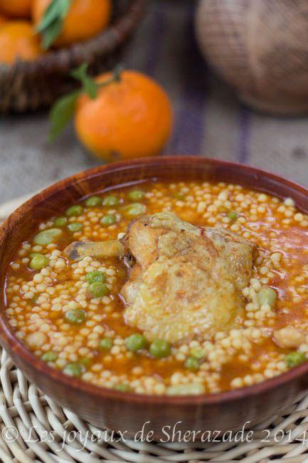 Berkoukes Au Poulet Recette Cuisine Orientale Cuisine Kabyle