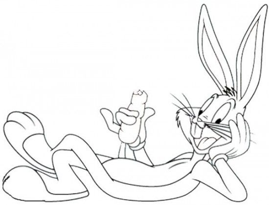 Bugs Bunny Coloring Pages Picture 5 550x419 picture  Looney Tunes