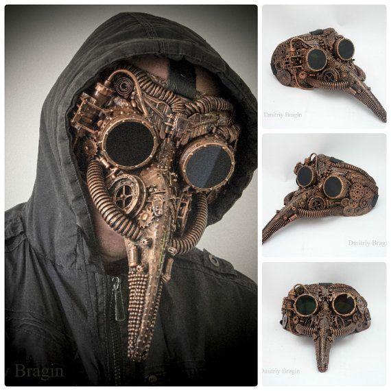 Maschera ANTIGAS Occhiali Halloween Fancy Dress Steampunk Occhiali