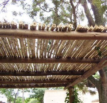 Resultado de imagen para pergolas de madera rustica - Pergolas rusticas de madera ...
