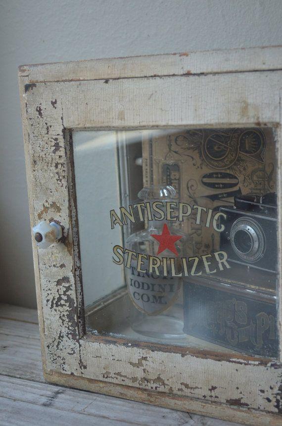 Vintage White Medical Sterilizing Cabinet Sterilizer