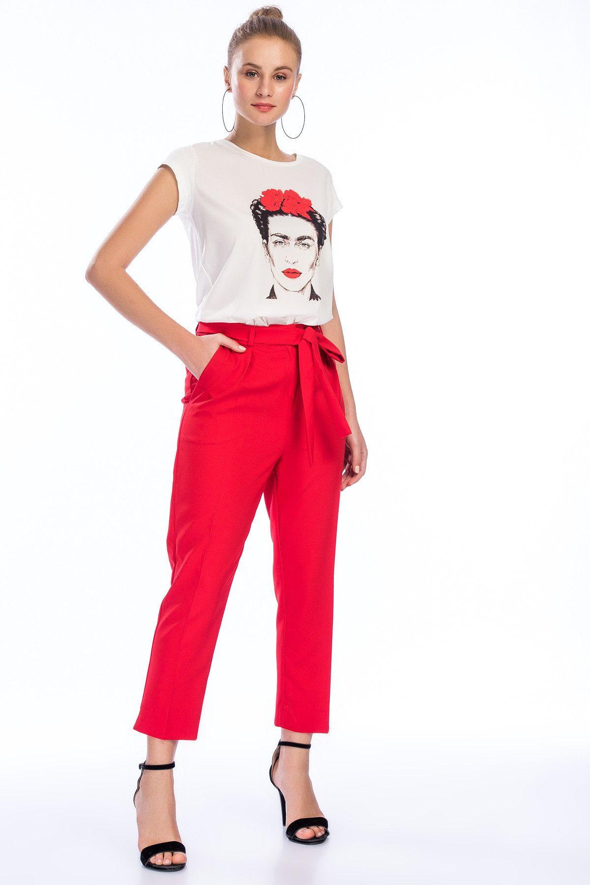 2019 Baskılı Pantolon Modelleri ve Kombinleri
