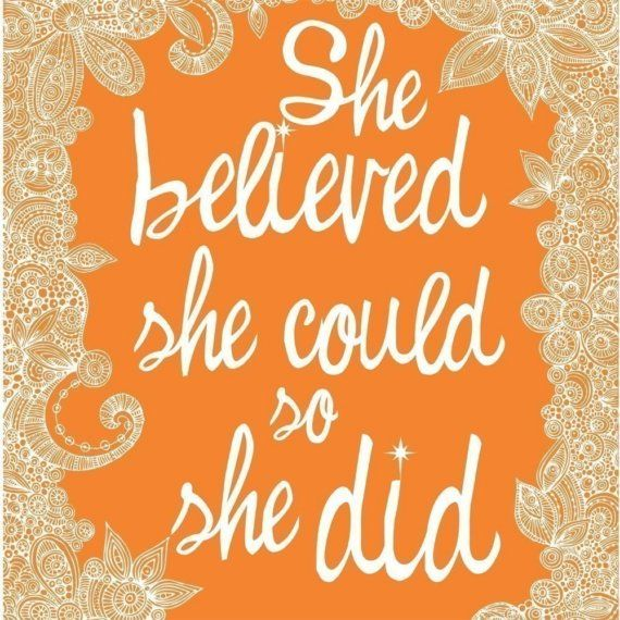 she believed she could | fearless