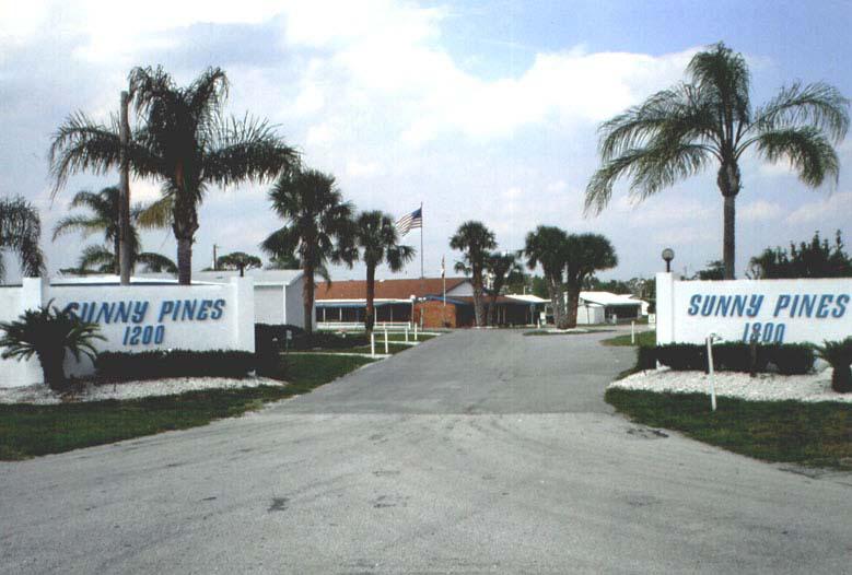 Sunny Pines RV Park Gated Community At Sebring Florida