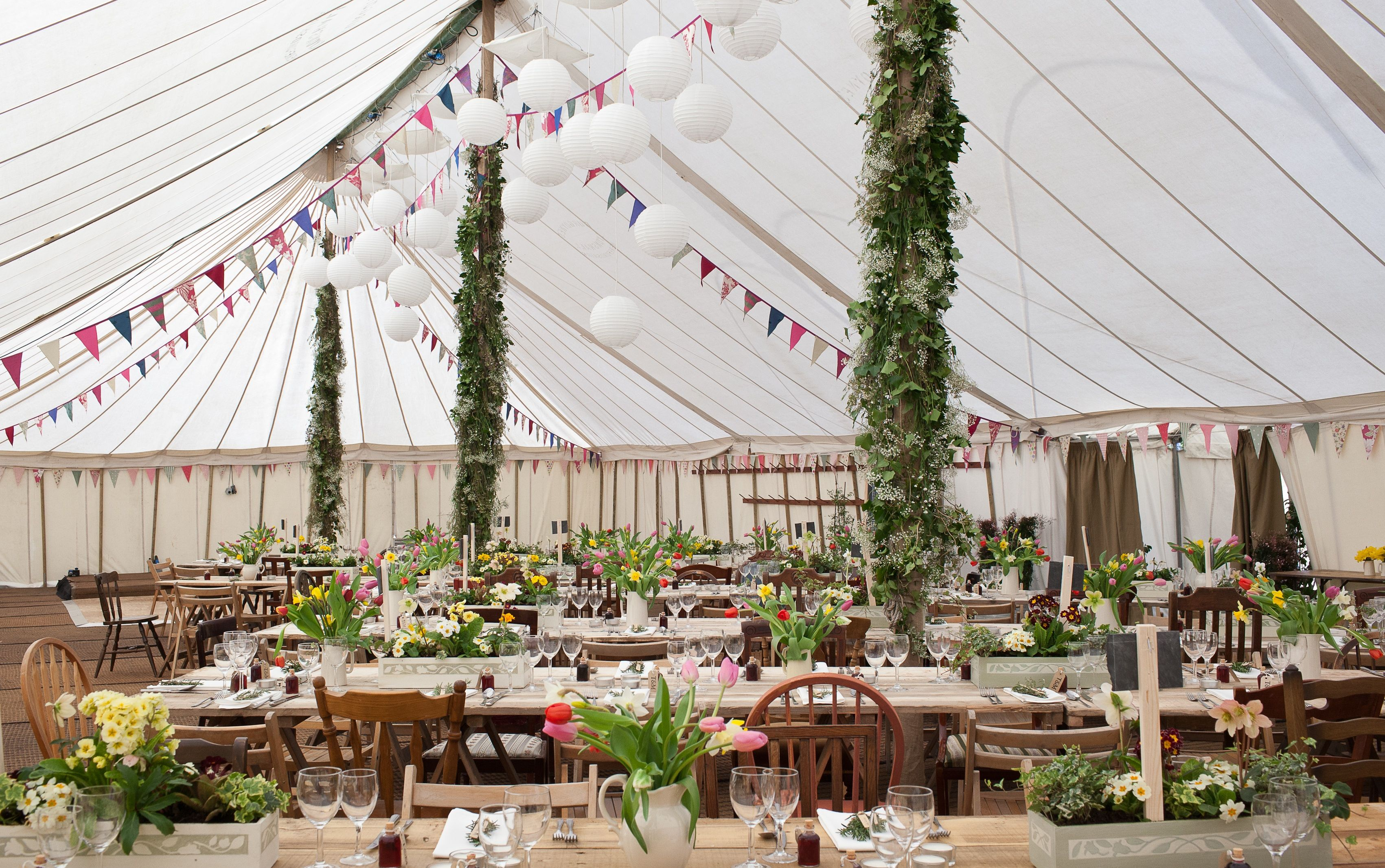 Marquee for country themed wedding. Great idea for a rustic themed ...