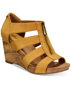 c0c37ffbf42897 Style Co. Style   Co Fettee Platform Wedge Sandals