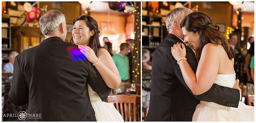 Father Daughter Dance Wedding Reception Dancefloor At Bonez In Crested Butte Colorado
