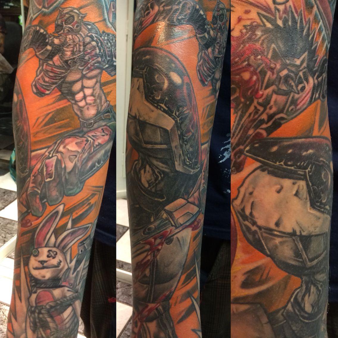 Borderlands Tattoo Sleeve Borderlands Tattoo Sleeve Tattoos Tattoos
