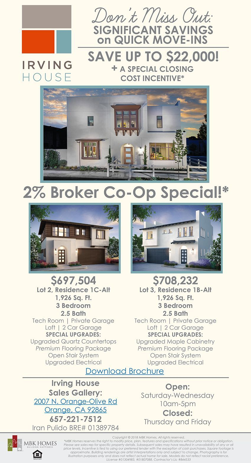 New homes for sale in orange california broker coops and quick