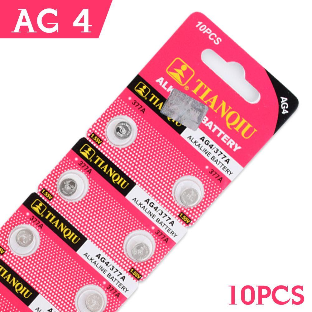 Nouveau 100 pcs//pack AG4 piles bouton 1.55V LR626 LR66 377 SR626SW 177 montre